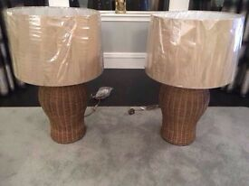 BRAND NEW- Huge Rattan Table Lamps