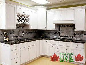 DVK kitchen cabinets up to 60% off-Shaker White Maple  10' x 10'
