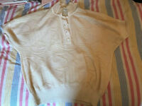Vintage Blouse, off white, Buttoned, Medium size, Bought in Paris