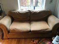 JOHN LEWIS LARGE FABRIC TWO SEATER SOFA IN VERY GOOD USED CONDITION FREE LOCAL DELIVERY 07486933766