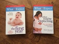 What to Expect books - The first year and when you're expecting