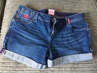 Superdry denim shorts 32W