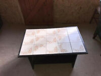 Table with tiles on top