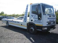 24/7 CHEAP CAR VAN RECOVERY VEHICLE BREAKDOWN TRANSPORT TOWING TRUCK BIKE DELIVERY SCRAP CARS