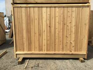 6x8 5x8 4x8 cedar fence panels sale & installs to