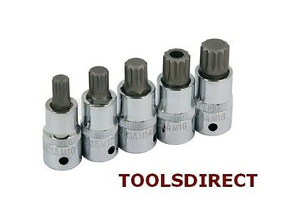 "1/2"" SPLINE KEY SET SOCKET BIT12 POINT M10 M12 M14 M16 M18 tamperproof gearbox"