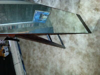 FULL STAND UP DARK BROWN FOLDING MIRRIOR ( NEW CONDITION )