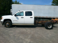 2011 GMC SIERRA 3500HD CREWCAB CHASSIS - 4x4 - DOUBLE ROUES