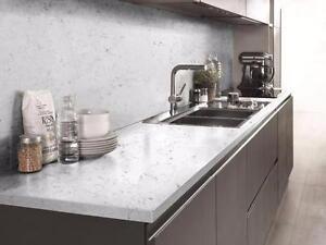CARRARA Natural Quartz Kitchen ------This month's Special $1800---Free Vanity !!!Free Estimate