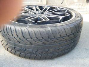 1 Haida Low Profile Tire 21 Inch  with Borghini Rim