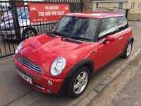 MINI ONE 1.6 (55) SERVICE HISTORY, MOT MAY 17, WARRANTY, IMMACULATE £1895