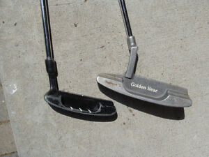 TWO GOLF PUTTERS