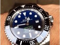 Rolex deepsea blue edition with glide