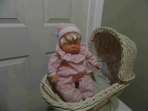 Baby Doll with white Dolls Baby Crib