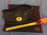 Coach black underarm handbag