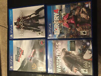 PS4 games for sale Need Gone good prices 10-40$
