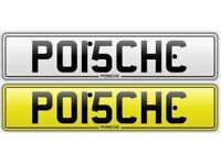 Porsche private number plate plates registration personalised