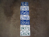 motor cycle licence plates