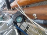 Varnished wooden mast from a 28′ sloop. See advert and photos