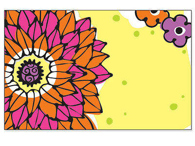 Doodle Garden - 50ct. BOLD DOODLE GARDEN Floral Blank Florist Enclosure Cards Small Tags