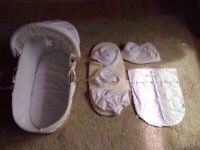 BARGAIN moses basket and bedding bundle