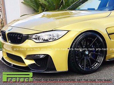 CARBON FIBER FRONT BUMPER EYELIDS COVER FOR BMW F80 M3 F82 F83 M4 2015+ CF