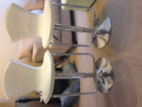 Matching Set of White Bar Stools