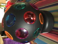 Disco Ball 8 inch multi Coloured Works great