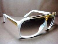 PAYPAL ACCEPTED LOUIS VUITTON WHITE EVIDENCE SUNGLASSES BRAND NEW WITH LV CASE/CLOTH.