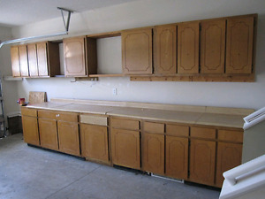 Looking for old kitchen cabinets for work shop