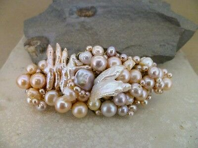 Barrette in your choice of  pearls & gems - perfect Birthday/Christmas gift OOAK