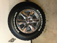 "18"" GMC/ Chev Chrome Wheels / BFG Tires  A/T Tires"