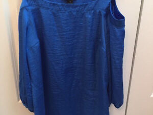 Royal blue tunic blouse