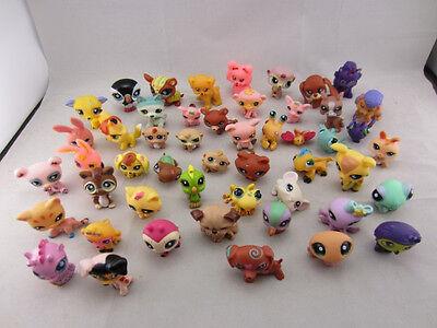20PCS Toys RANDOM LITTLEST Pet SHOP Lot Girl Figures Auction Child Loose Lovely