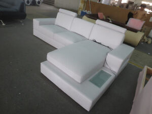 Brand New- White Leather Sectional - 3rd i Home Decor