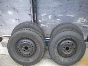 14 inch Snow tires on Steel rims