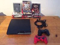 PS3 + 2 Controllers + 19 Games