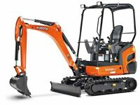 Mini digger hire/ building contractors covering London and South East