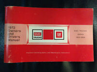 1972 GMC truck owner & Driver's manual