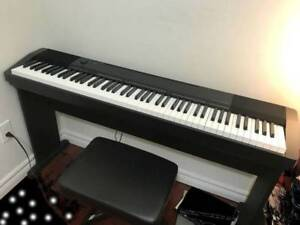 Casio piano CDP130 with Stand, pedal, bench (88 weighted keys)
