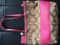 Authentic Coach purse and matching clutch