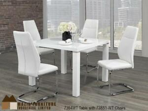 White Modern Dining Set (MA328)