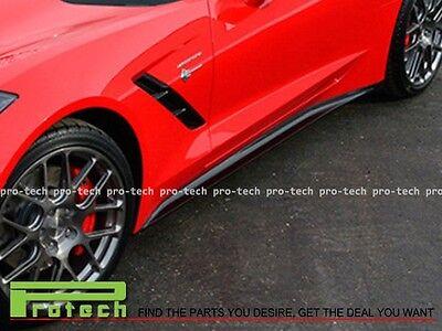 2014+ Corvette C7 ST Stingray Bottom Line Side Skirts Carbon Fiber Rocker Panel  for sale  Shipping to Canada