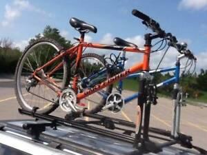 Thule Rapid Crossbar System / Roof Racks with two Bike Racks
