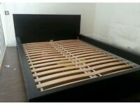Double Bed (Ikea Malm) with mattress - 6 months old