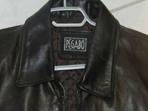 Mens Pegabo Large Brown Leather Jacket - $60 (Whitby)