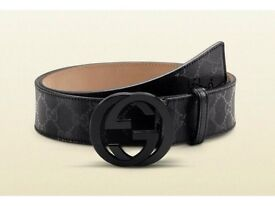 **BRAND NEW GUCI -NO SCREWS-SERIAL CODE-LEATHER BELT**