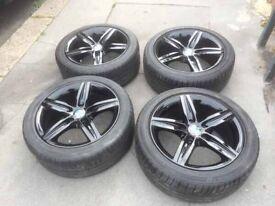 17 inch 1 3 series alloys rims black BMW will fit van