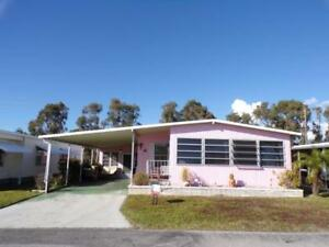 2 bdr +den 2 bath furnished mobile home 7 min to the beach,