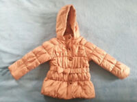 Mothercare girls coat for 3-4 year old